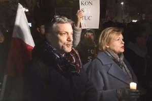 Wiec wsparcia dla odwołanego sędziego z Olsztyna [VIDEO]