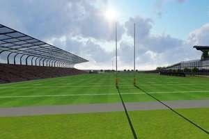 Stadion rugby wychodzi na prostą