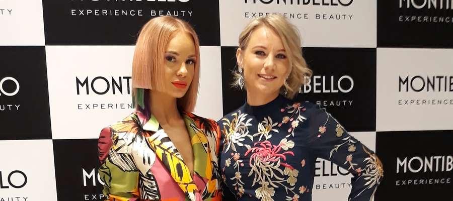 Modelka Karolina Rucińska (z lewej) i Zofia Łyszcz-Figacz, już po wykonaniu finałowej stylizacji