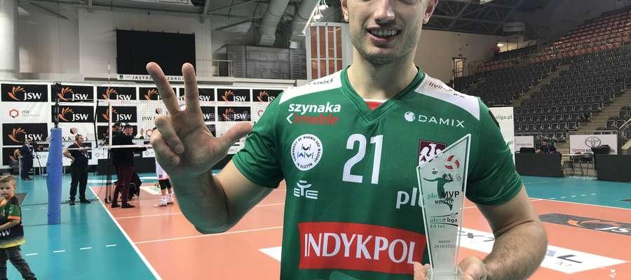Wojciech Żaliński został uznany najlepszym zawodnikiem zwycięskiego meczu w Jastrzębiu