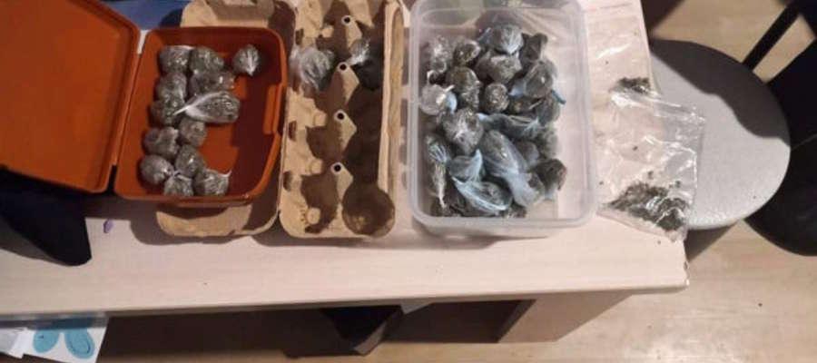 W mieszkaniu wynajmowanym przez 19- latka ujawniono 61 zawiniątek z marihuaną