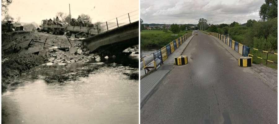 Most w Kurzętniku kiedyś i dziś