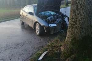 Młody kierowca uderzył w drzewo [ZDJĘCIA]