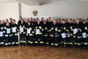 Zakończenie szkolenia podstawowego strażaków ratowników OSP