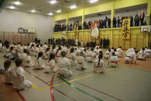 Tradycyjny egzamin karateków na zakończenie roku kalendarzowego