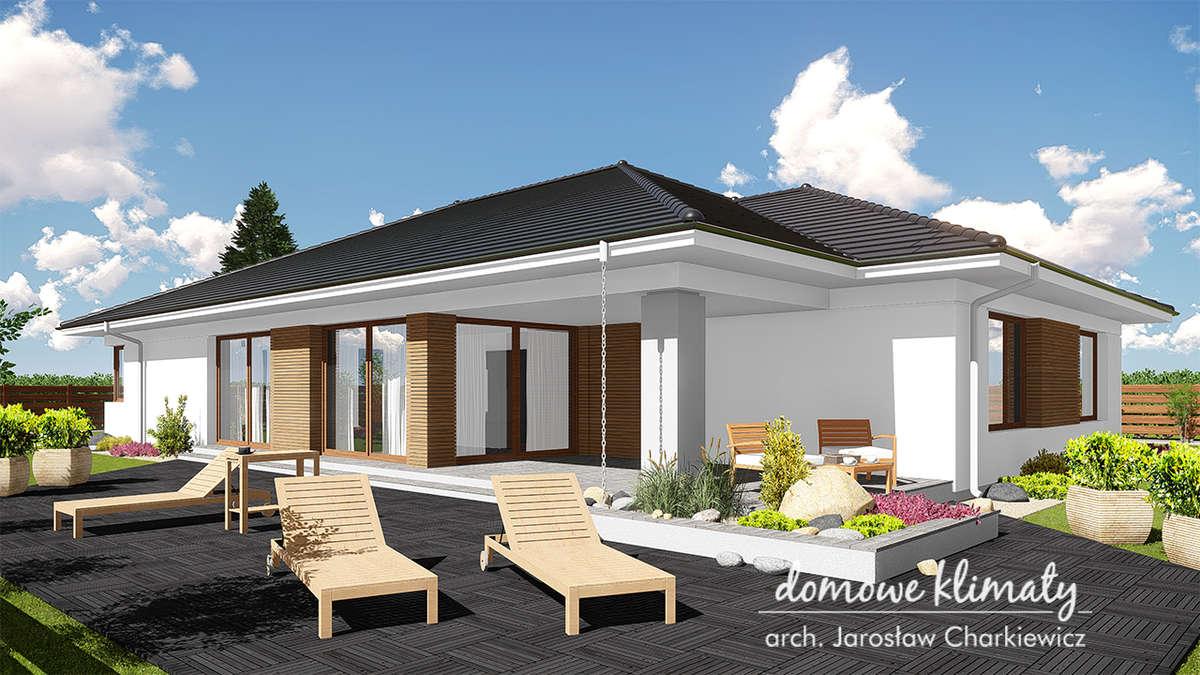 Projekt domu Awokado — energooszczędny dom na wąską działkę - full image