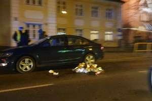 Wypadek na ul. Jagiellońskiej w Olsztynie. Pieszy trafił do szpitala