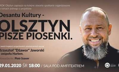 """Olsztyn Pisze Piosenki. Spotkanie z Krzysztofem """"Dżaworem"""" Jaworskim"""