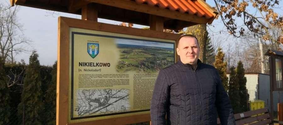 Paweł Kubicki, dumny sołtys Nikielkowa