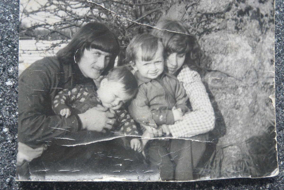 Władysław Katarzyński z rodziną