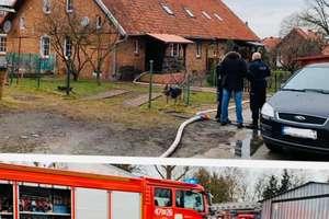 Pożar poddasza. Do akcji zadysponowano pięć strażackich zastępów