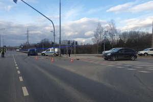 Zderzenie na skrzyżowaniu Armii Krajowej i Jagiellończyka w Olsztynie. Dwie osoby trafiły do szpitala