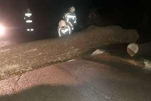"""Strażacy wyjeżdżali cztery razy do skutków orkanu """"Sabina"""""""