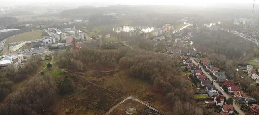 Górka Kortowska okiem kamery drona