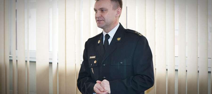 Krzysztof Grabias żegna się ze stanowiskiem komendanta mrągowskich strażaków