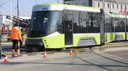 W Olsztynie wykoleił się nowy tramwaj. Niedawno przyjechał do nas z Turcji [ZDJĘCIA, VIDEO]