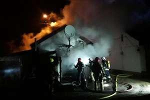 Pożar budynku w Olsztynie [ZDJĘCIA]