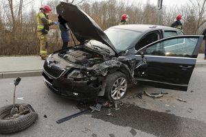 Wypadek w Rydzewie, jedna osoba zabrana do szpitala
