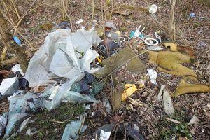 Wysypisko śmieci w pobliżu Krzewiny
