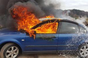 Passat stanął w płomieniach