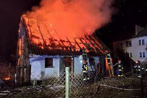 Pożar budynku gospodarczego w Szwejkówku