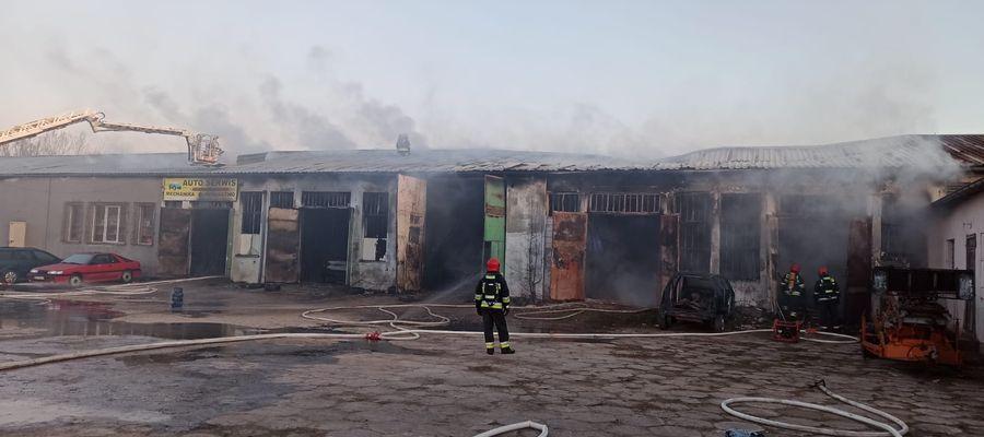 Pożar warsztatu w Biskupcu