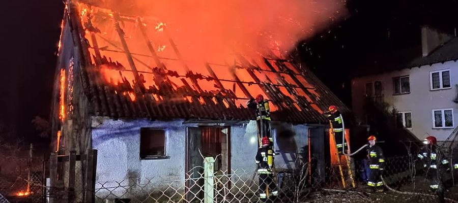 Pożar wybuchł w nocy