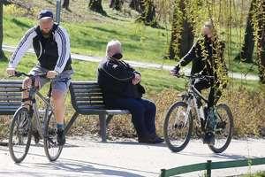 Mieszkańcy Olsztyna wybrali się na spacer do parku [ZDJĘCIA]