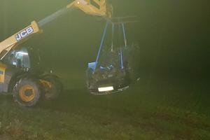 65-latek z Susza wylądował w rowie i wywrócił auto. Gaz był podwójny