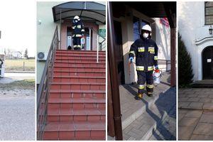 Strażacy ochotnicy z Mroczna i Grodziczna dezynfekowali miejsca publiczne