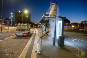 Koronawirus w Olsztynie: Zdezynfekowano blisko 300 przystankowych wiat