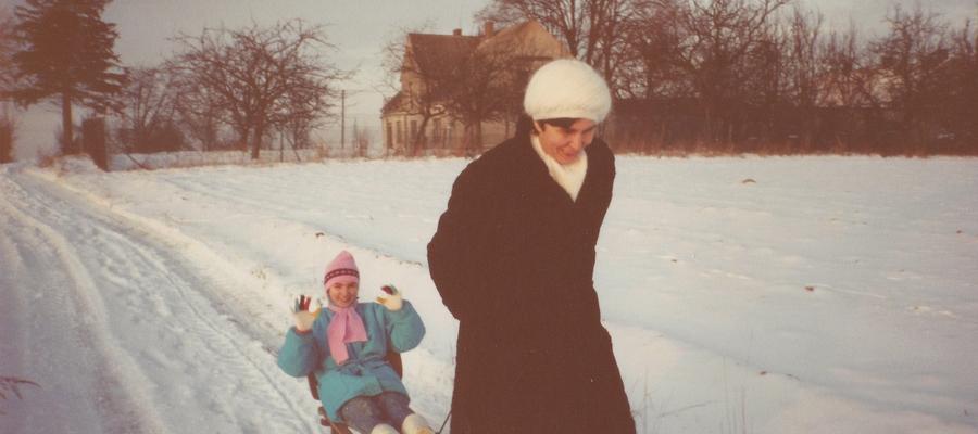 Zima w Targowisku Dolnym w 1994 r.