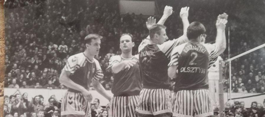 W finale sezonu 1992/93 AZS Olsztyn przegrał z AZS Częstochowa. Na zdjęciu od lewej: Robert Grynkiewicz, Dariusz Skotnicki, Arkadiusz Wiśniewski i Roman Roszewski