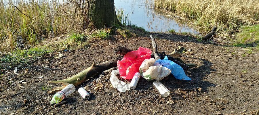 Takie śmieci to normalka na nabrzeżu Jeziora Ornowskiego i w pobliskim lesie