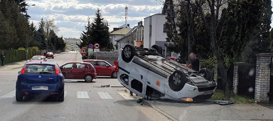 Wypadek na skrzyżowaniu ul. Zachodniej i Kościuszki w Mławie