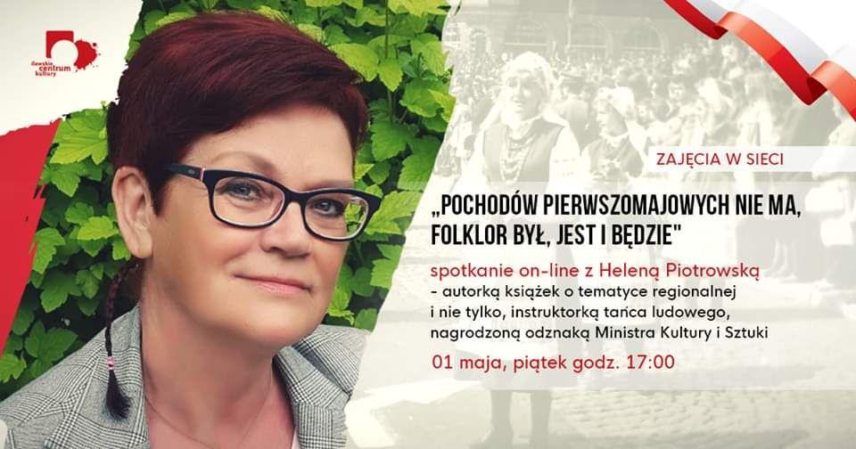 Spotkanie on-line z Heleną Piotrowską - full image