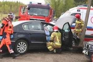 Zderzenie samochodów w Olsztynie. Są utrudnienia w ruchu [ZDJĘCIA]