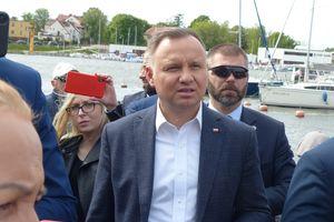 Prezydent nad Jeziorakiem. Wizyta Andrzeja Dudy w Iławie [FOTO, VIDEO]
