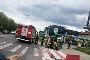 O włos od tragedii. Zderzenie aut w Olsztynie