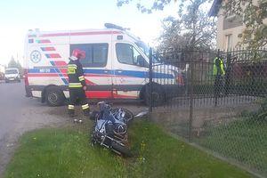 Stracił panowanie nad motocyklem i wjechał do rowu
