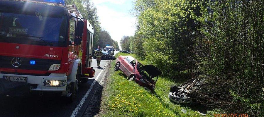 Wypadek na trasie Rogóż - Samolubie