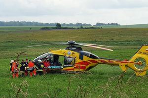 Zderzenie czterech pojazdów na DK16. Jedna osoba trafiła do szpitala