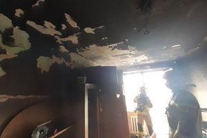 Pożar mieszkania na Nidzickiej