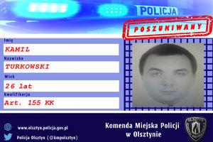 Kamil Turkowski jest poszukiwany listem gończym