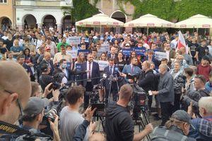 Kandydat Bosak w Olsztynie przyciągnął młodych