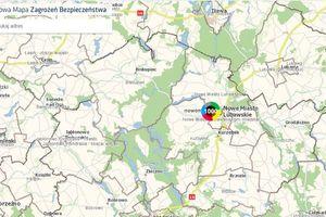 Krajowa Mapa Zagrożeń Bezpieczeństwa w powiecie nowomiejskim- 1000 naniesionych zgłoszeń