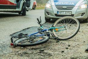 Rowerzystka trafiła do szpitala