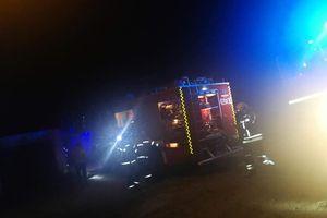 Poparzony w pożarze mężczyzna trafił do szpitala