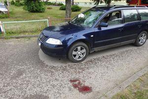 Pijany rowerzysta trafił do szpitala po zderzeniu z samochodem