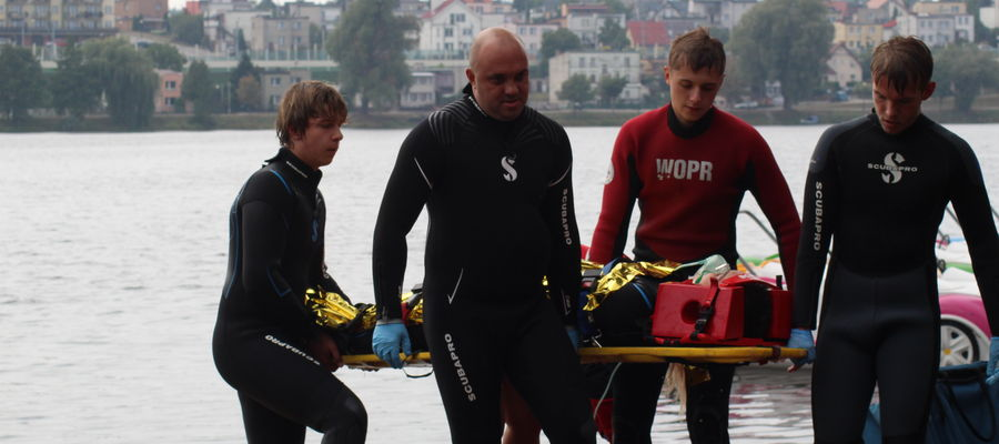 Zdjęcie z jednej z akcji WOPR Iława, tu akurat na Małym Jezioraku w Iławie